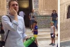 Siriani thërret ezanin në pallatin Alhambra në Andaluzi të Spanjës